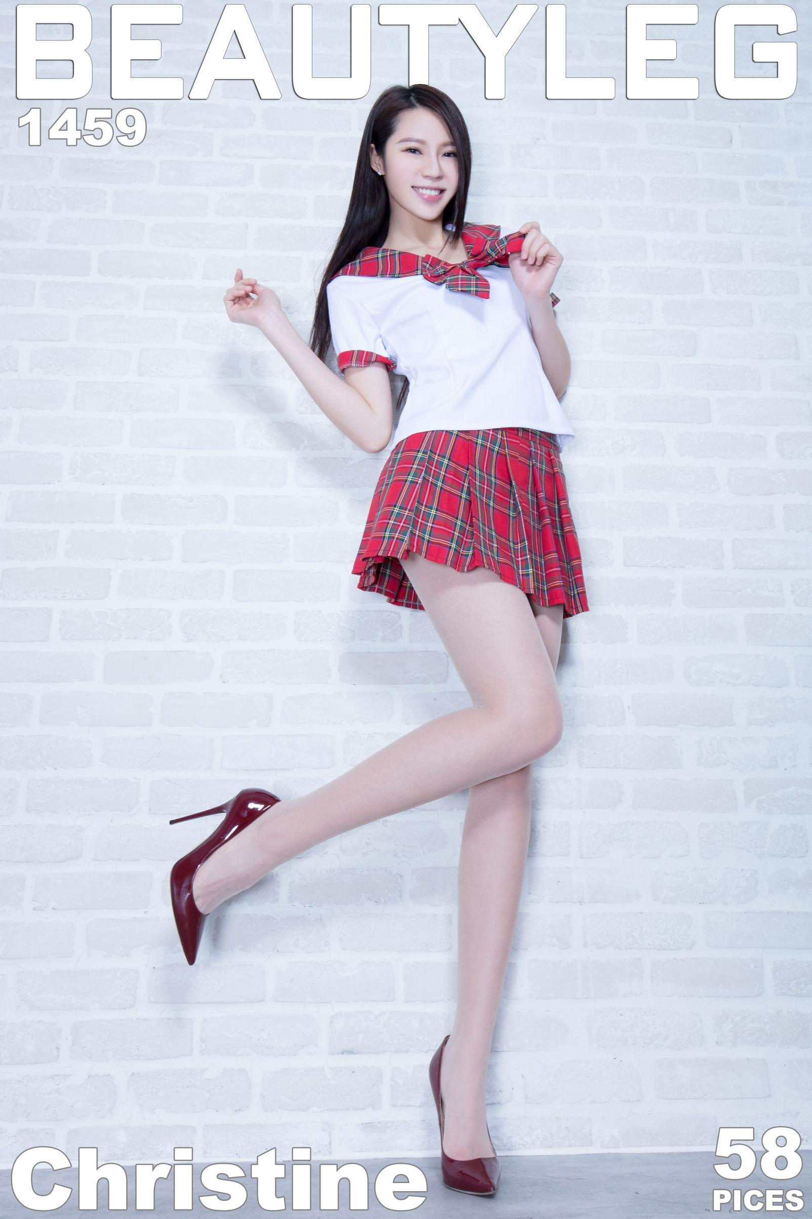 Christine - 超短裙制服美腿
