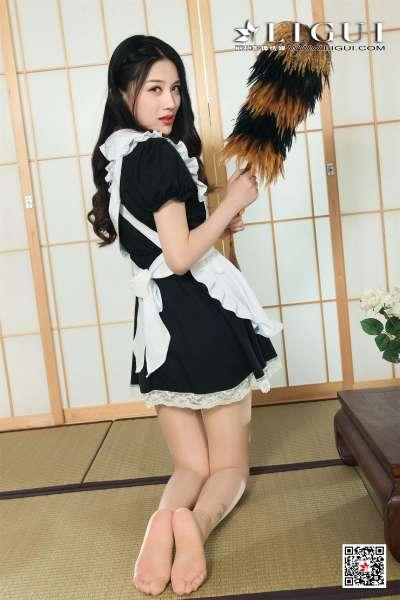Model 甜甜 - 极品女仆绳艺捆绑丝足