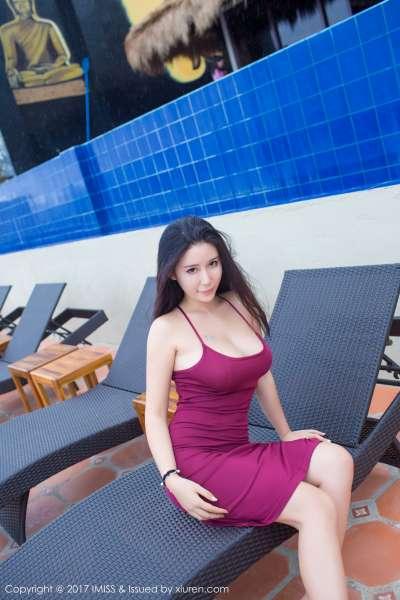 女神Abby李雅长滩旅拍第一套 写真图片B